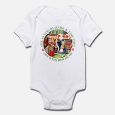 TOO BLONDE & TOO THIN Infant Bodysuit