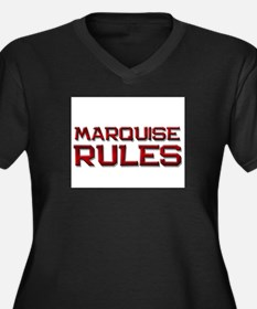 marquise rules Women's Plus Size V-Neck Dark T-Shi