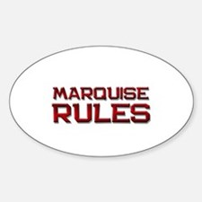 marquise rules Oval Decal
