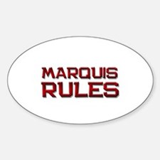marquis rules Oval Decal