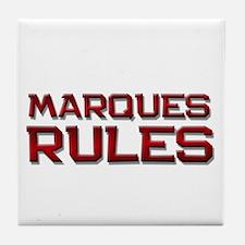 marques rules Tile Coaster