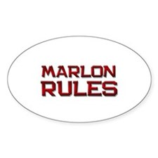 marlon rules Oval Decal