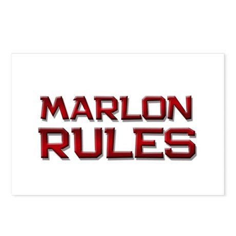 marlon rules Postcards (Package of 8)
