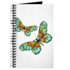 Art Nouveau Butterfly Brooch Pin Journal Notebook