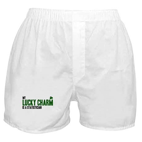 Statistician lucky charm Boxer Shorts