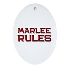 marlee rules Oval Ornament