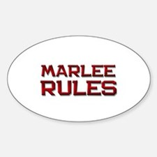 marlee rules Oval Decal