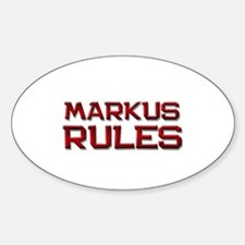 markus rules Oval Decal