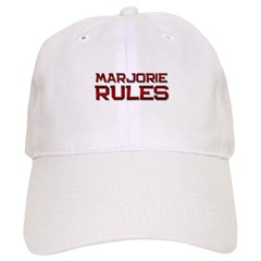 marjorie rules Baseball Cap