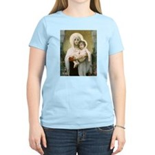 Madonna of the Roses Women's Pink T-Shirt