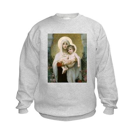 Madonna of the Roses Kids Sweatshirt