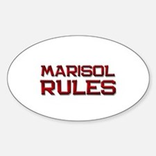 marisol rules Oval Decal