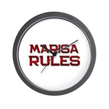 marisa rules Wall Clock