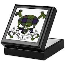 MacLaren Tartan Skull Keepsake Box