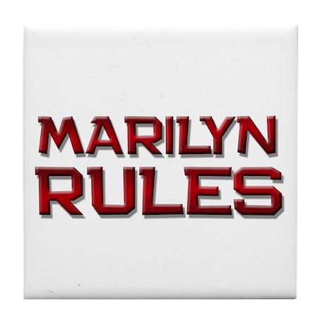 marilyn rules Tile Coaster