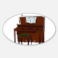 PIANO (7) Oval Decal