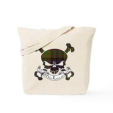 MacLellan Tartan Skull Tote Bag