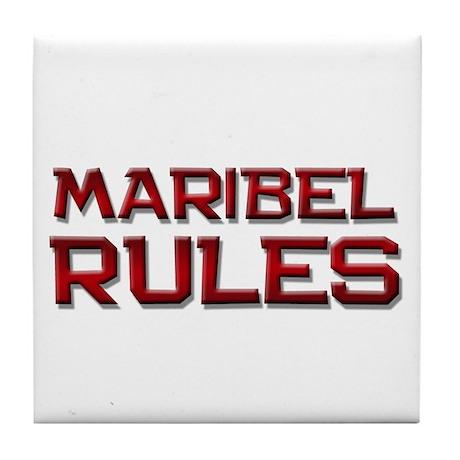 maribel rules Tile Coaster