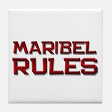 maribel rules Tile Coaster