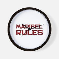 maribel rules Wall Clock