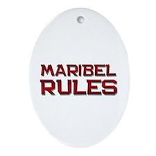 maribel rules Oval Ornament