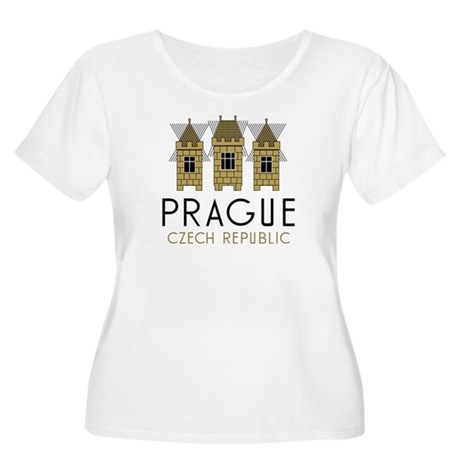 Prague Women's Plus Size Scoop Neck T-Shirt