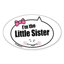 Little Sister Oval Decal
