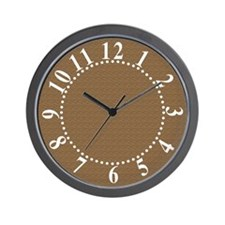 Textured Brown Look Wall Clock
