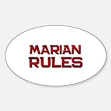 marian rules Oval Decal