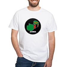 Flag Map of Zambia Shirt