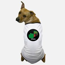 Flag Map of Zambia Dog T-Shirt
