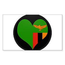 I love Zambia Flag Rectangle Decal