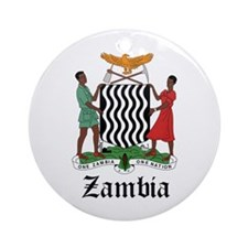 Zambian Coat of Arms Seal Ornament (Round)