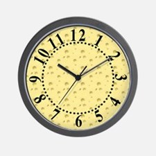Light Yellow Cheese Big Numbers Wall Clock