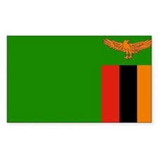 Zambia Flag Rectangle Decal