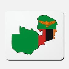 Zambia Flag Map Mousepad