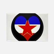 I love Yugoslavia Flag Rectangle Magnet
