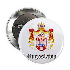 """Yugoslavian Coat of Arms Seal 2.25"""" Button"""