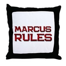 marcus rules Throw Pillow