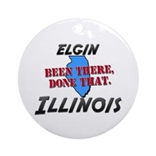 elgin illinois - been there, done that Ornament (R