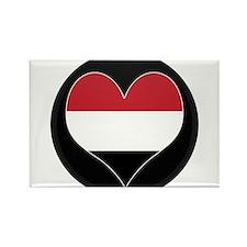 I love yemen Flag Rectangle Magnet