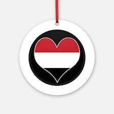 I love yemen Flag Ornament (Round)
