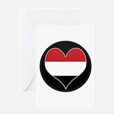 I love yemen Flag Greeting Card