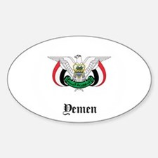 Yemeni Coat of Arms Seal Oval Decal