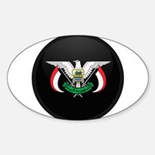 Coat of Arms of yemen Oval Decal