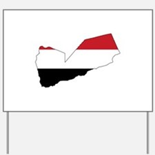 yemen Flag Map Yard Sign