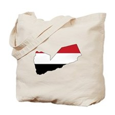 yemen Flag Map Tote Bag