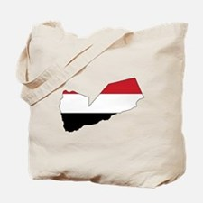 yemen Flag Map Tote Bag