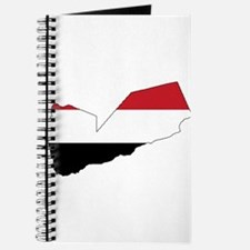 yemen Flag Map Journal