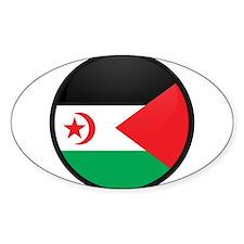 Western Sahara Oval Decal